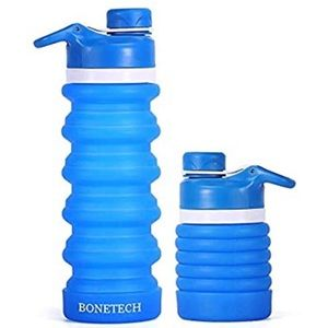 💧COLLAPSIBLE WATER BOTTLE💧NEW IN THE BOX➡️ BLUE